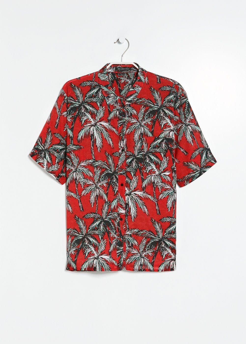 0098fcc00 Camisa estampado palmeras - Mujer en 2019