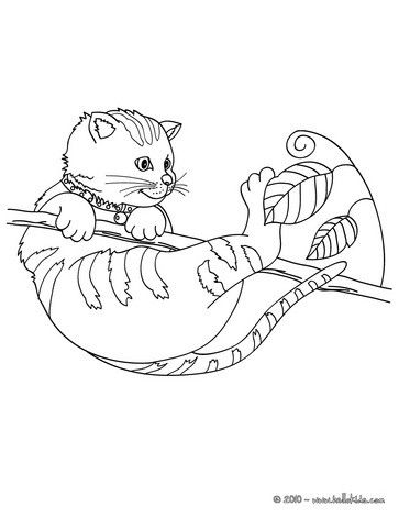 Let Your Imagination Soar And Color This Cat On Tree Coloring Page With The Colors Of Your Choice Kittens Coloring Cat Coloring Page Coloring Pages