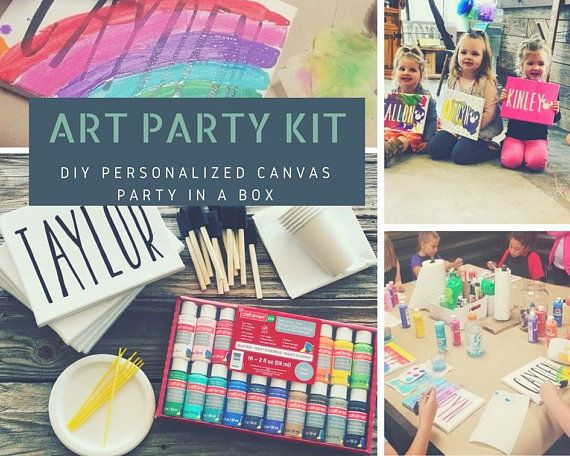 Canvas art party, kids birthday party, art supplies, craft party, custom canvas, name canvas, person is part of Kids Crafts Canvas Birthday Parties - subscribe u b9d41389ebe0c8bc8b41ce93a&id ab1be4fd47Please note, we are NOT responsible for user error  No refunds will be given