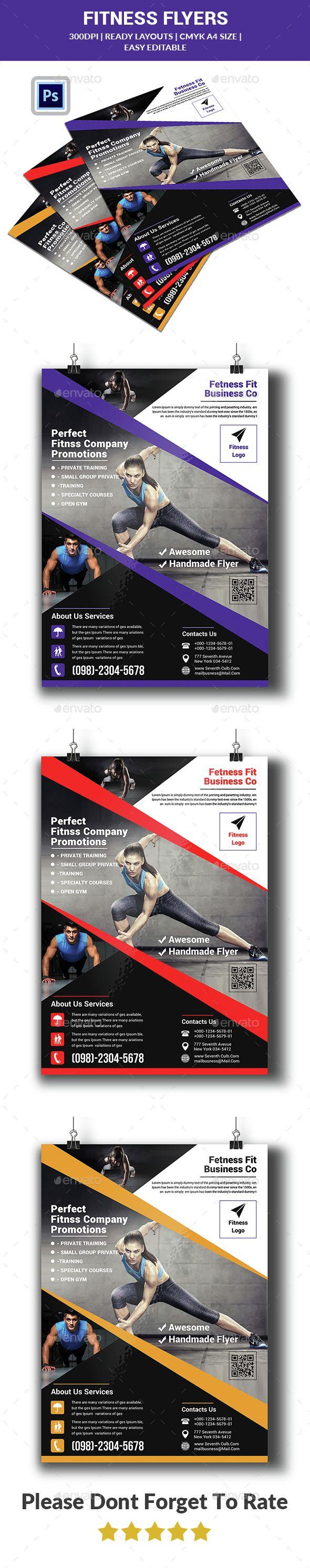 Fitness Flyer Template Sports Events Danielfolle Pinterest