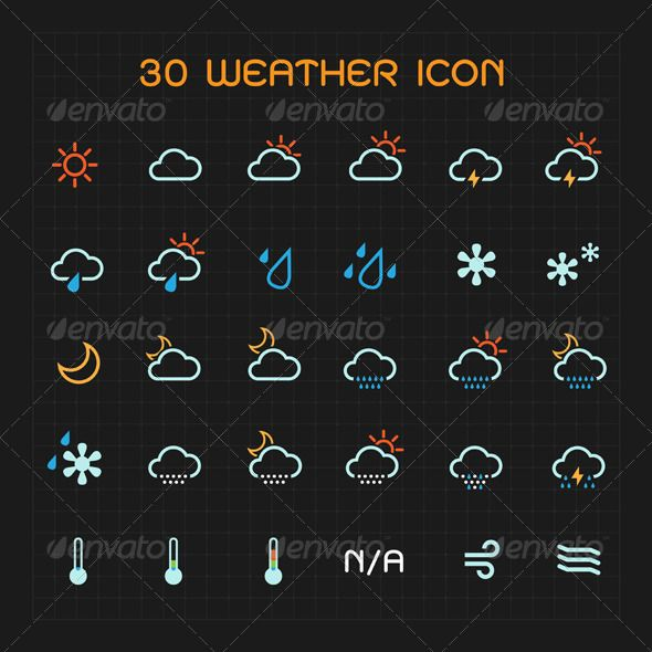Color Weather Icon Set .This image is available on