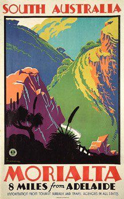 Morialta Australia Posters Australia Vintage Travel Posters Travel Posters