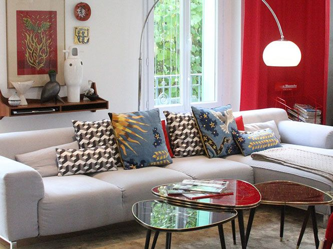 Tendance Déco - Un salon personnalisé entre arty et vintage | déco ...