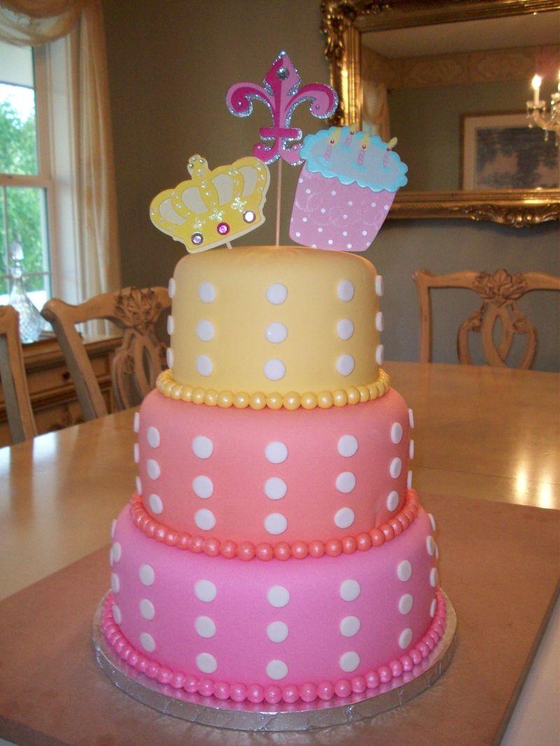 Fabulous Three Tier Birhtday Cake Birthday Fondant Cakes 3 Tier Fondant Personalised Birthday Cards Cominlily Jamesorg