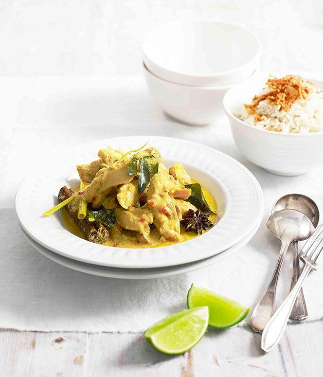 Malaysianchickencurry asian food pinterest malaysian chicken australian gourmet traveller fast recipe for malaysian chicken curry forumfinder Choice Image