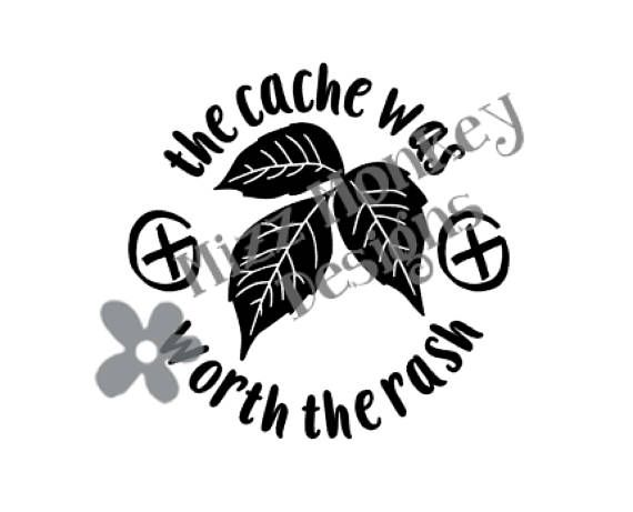 3 x Cache stickers for Geocaching black print on gray sticker