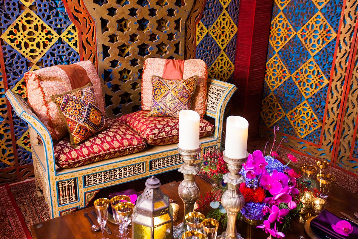 Wedding room decoration ideas  Cozy up with your loved one at this Disneyus Aladdin Moroccan