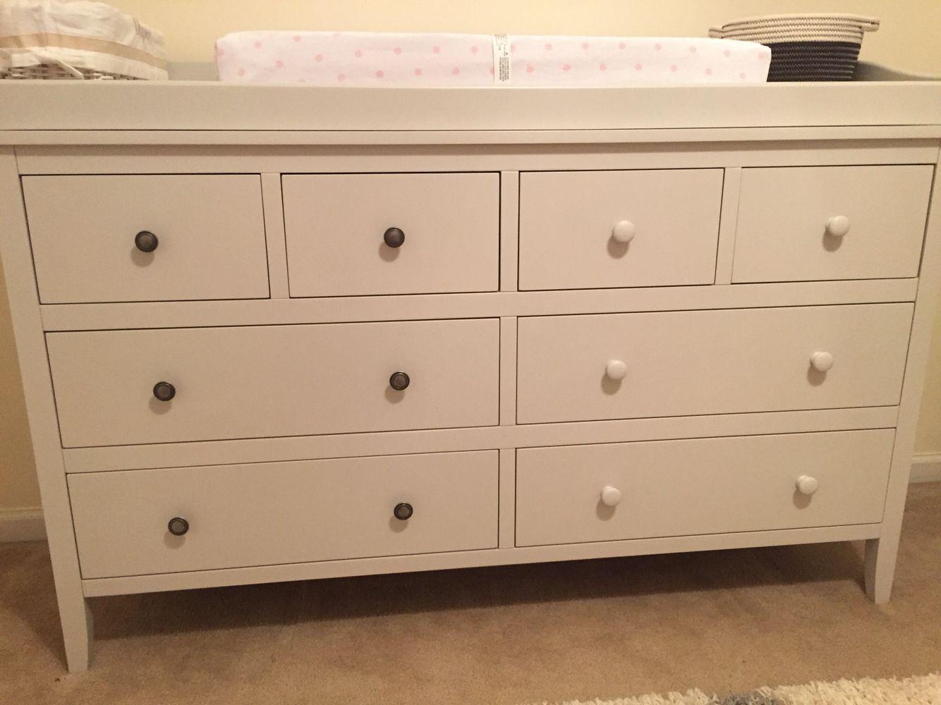 Peter Rabbit Nursery Dresser Update Before Right White Wooden