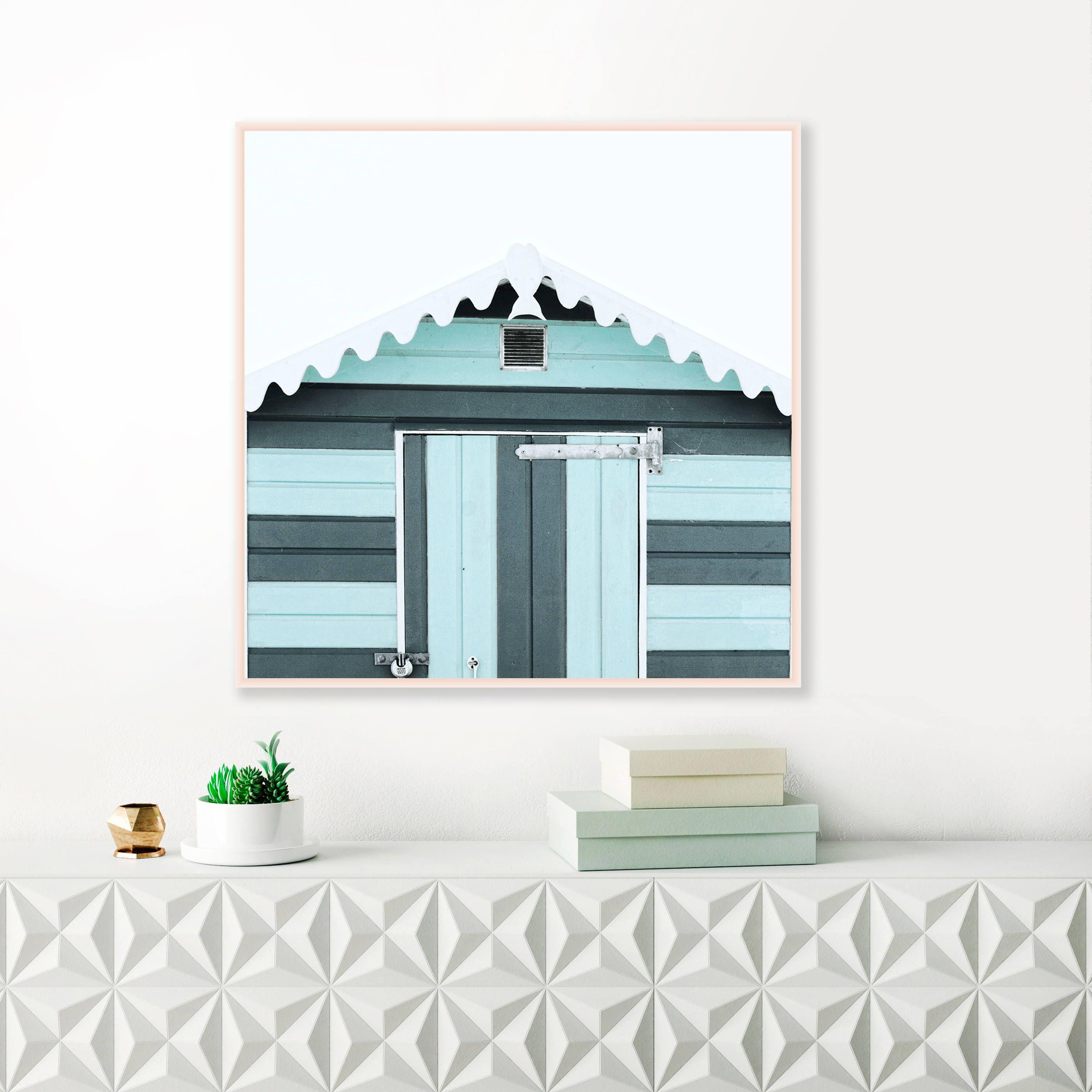 Beach Hut Print, Square Prints, Printable Gallery Wall