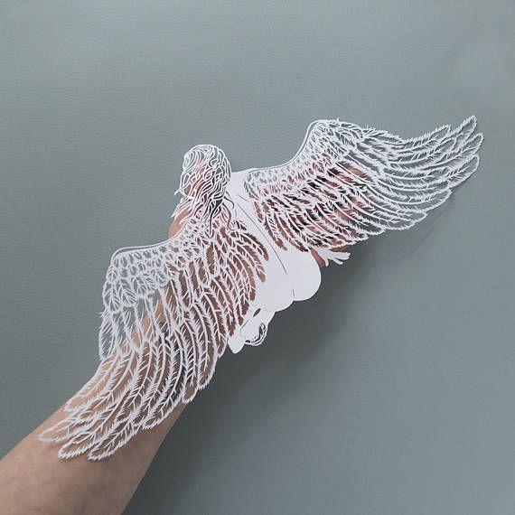 Angel wings wall decor, Angel wings, Guardian angel, Angel art ...
