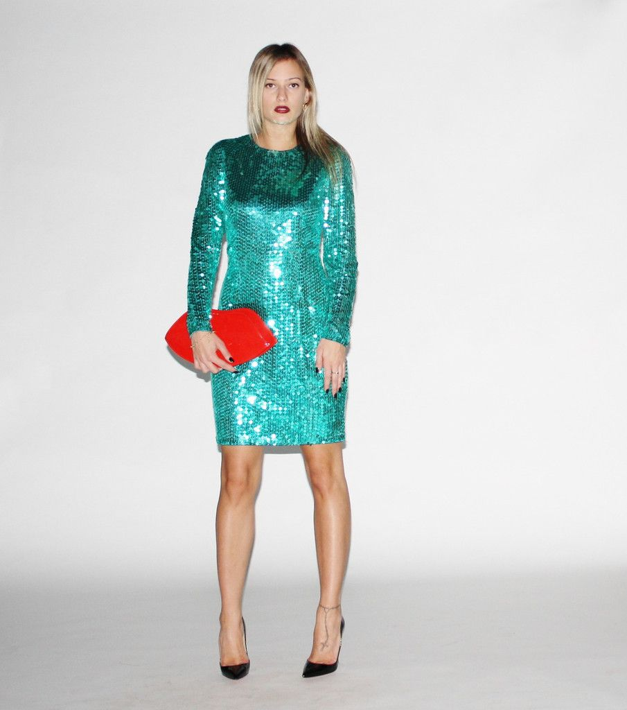 VINTAGE 1980S GREEN SEQUIN PARTY DRESS | Dressed to Impress ...