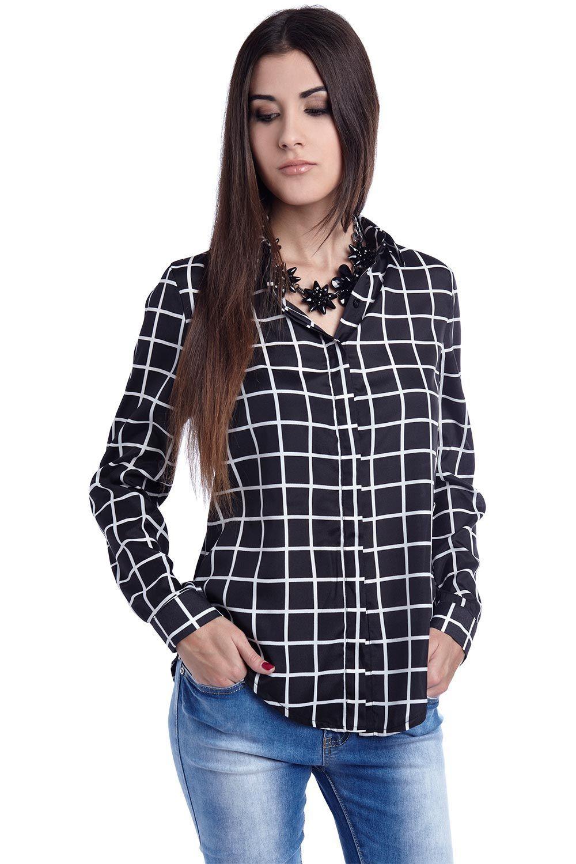 6f92c4338677 Camisa de cuadros negra - 29,90 € - q2.com.es | clothing | Camisa de ...