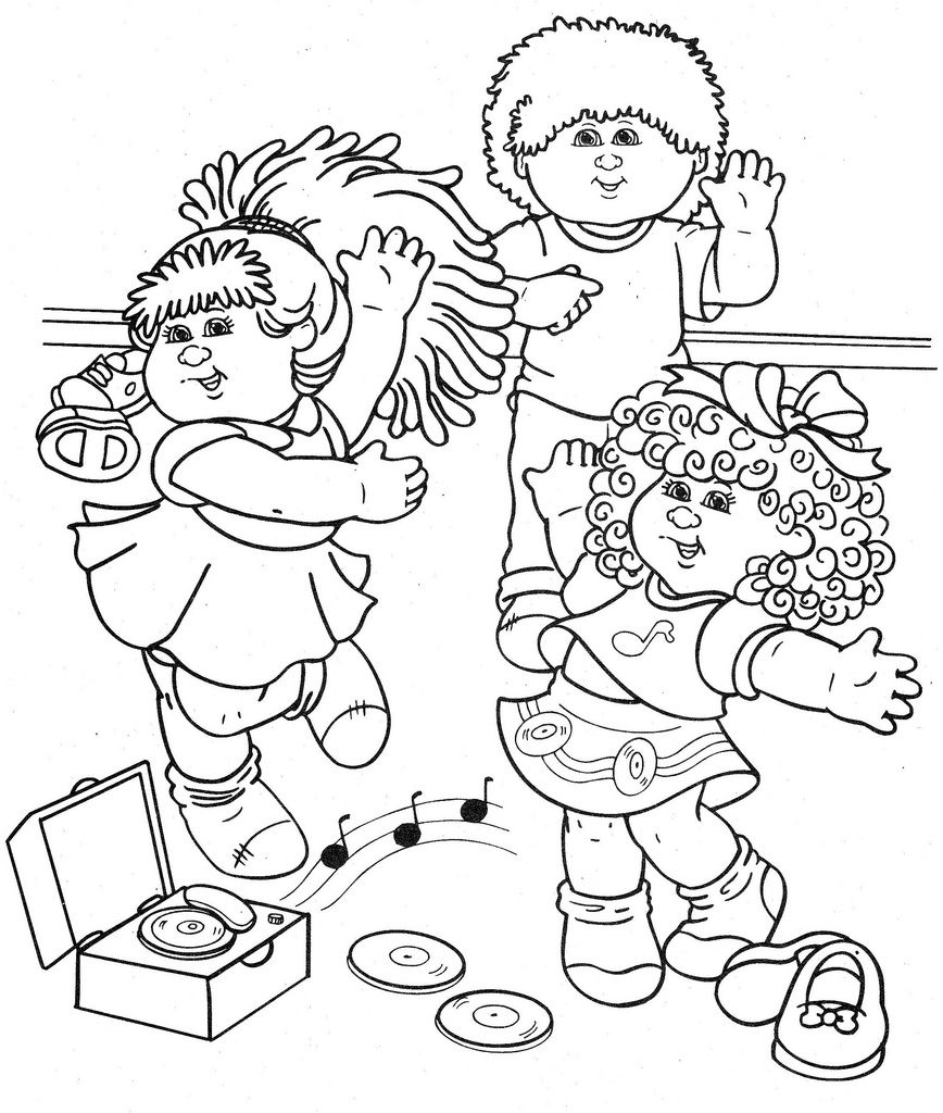 Clip Art Cabbage Patch Kids Coloring Pages 1000 images about colouring cabbage patch on pinterest activities creative and kids