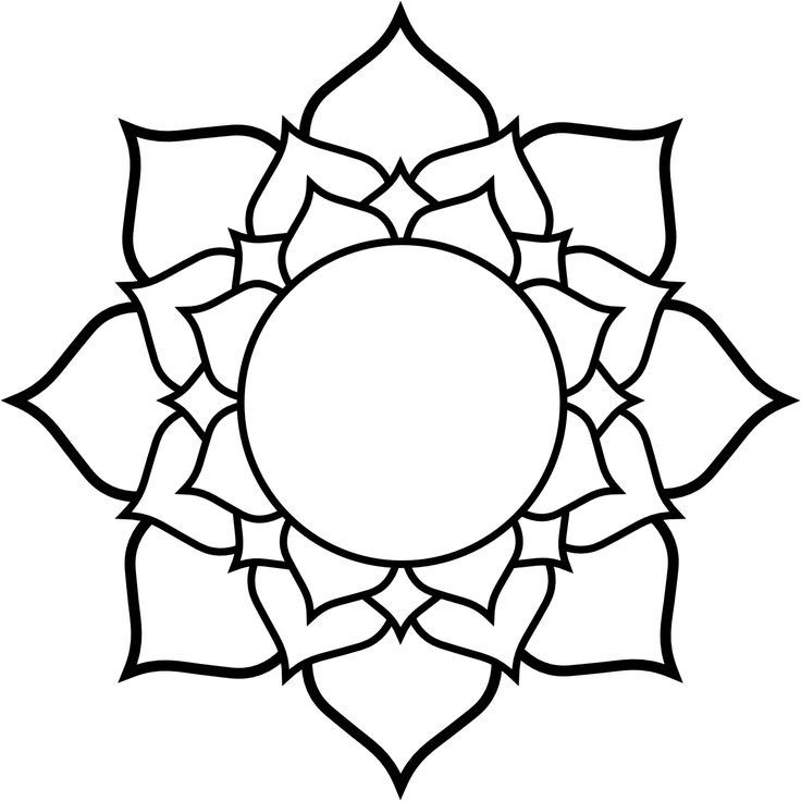 lotus flower clipart black and white clip art pinterest flower rh pinterest com flower clip art black and white free flower clip art black and white free