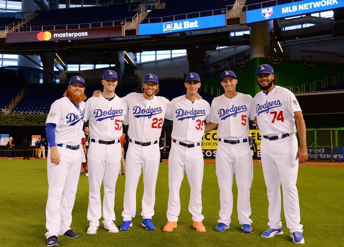 2017 Dodger All Stars Pic Via Dodgers On Twitter With Images