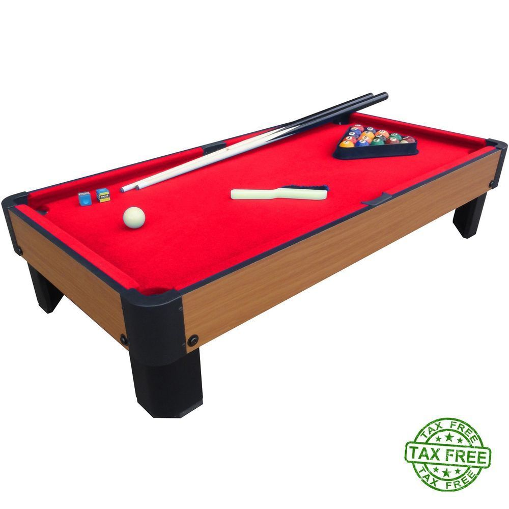 MINI Billiards Pool Table FULL SET Balls Cues Playcraft Sport - Mini billiards table set