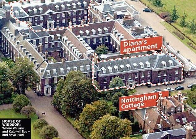 Nottingham Cottage Prince Harry 39 S Home At Kensington