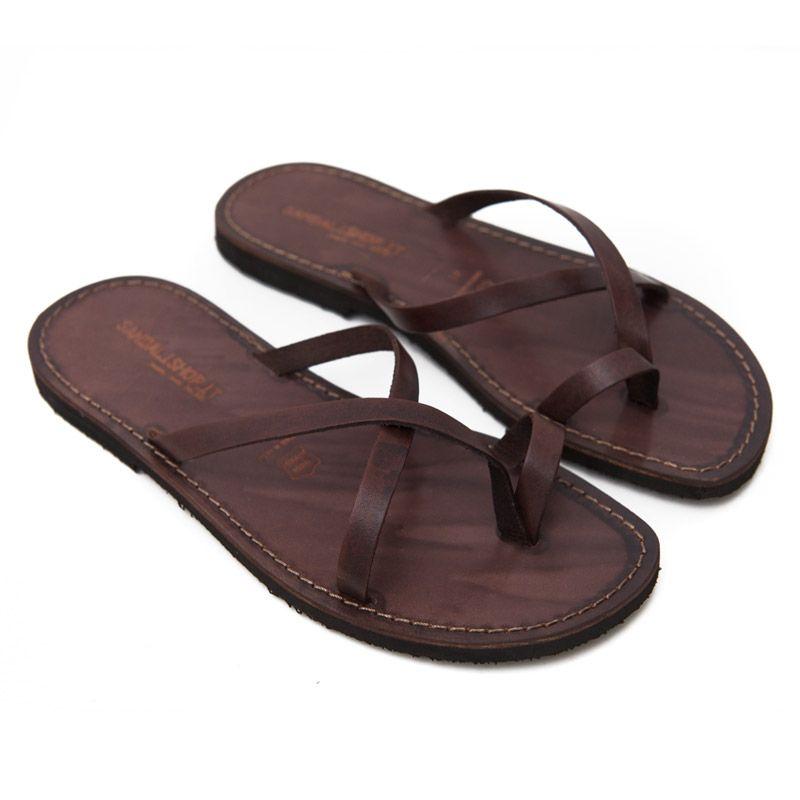 Sandalo taranta marrone da uomo