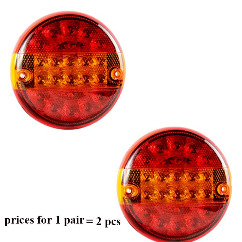 1 Pair Aohewei 10 30 V Led Trailer Light Position Led Light Stop Brake Turn Indicator Tail Light Side Marker Light Tail Lamp