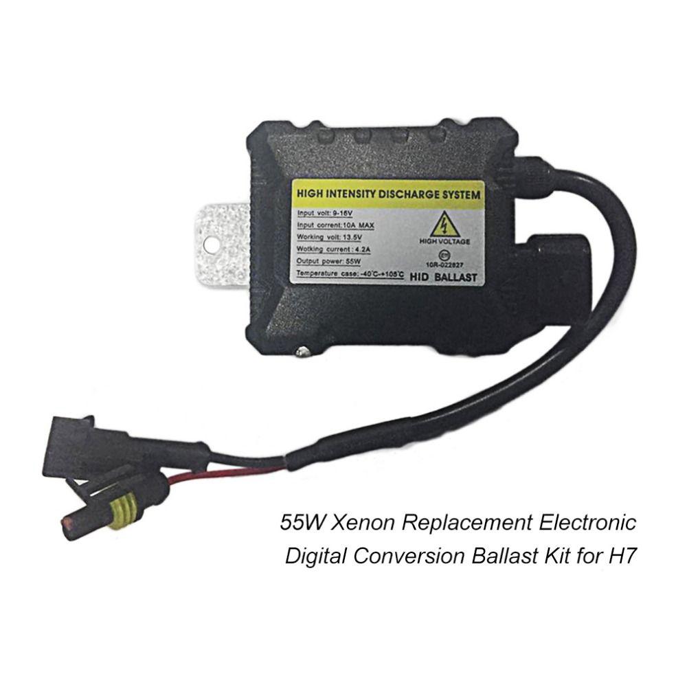 Digital Car Xenon Hid Conversion Kit Replacement With Slim Ballast Blocks For Headlights Ultra All Light Bulbs Fit Dc 12v 55w Ballast Digital Car Lights