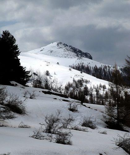 tête de Pérail (en avril) à un peu plus de 1900 m d'altitude, dans le massif de Pommier-Giarons (Alpes-Maritimes)