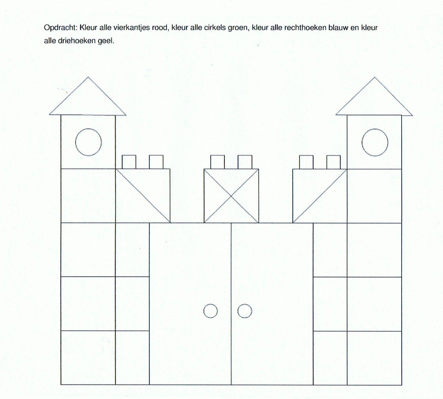 Werkblad vierkantjes kasteel thema ridders en for Werkbladen ridders en kastelen