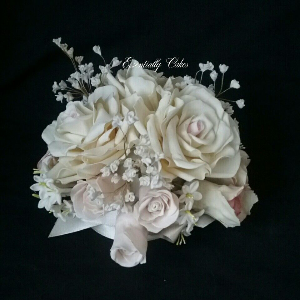 Close Up Of Gumpaste Flower Cake Topper Essentially Cakes Gallery