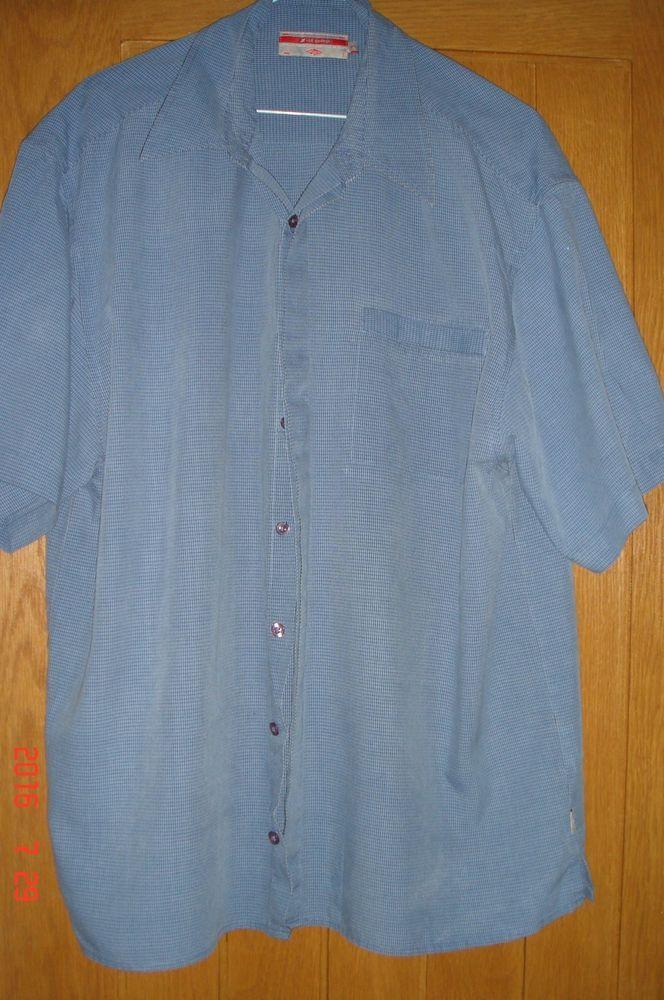 Lee cooper mens light blue short sleeve shirt size xl 3 for Light blue short sleeve shirt mens