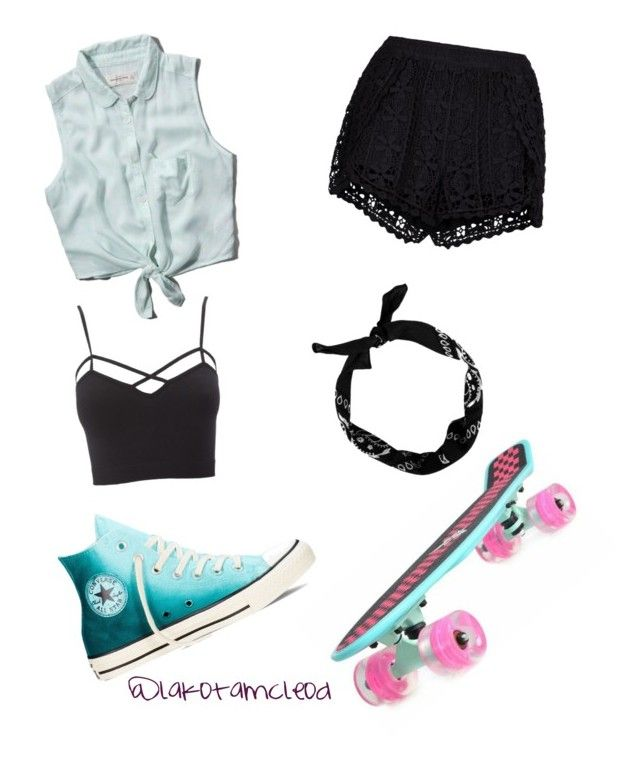 """Sk8ter Girl"" by lakotamcleod on Polyvore featuring Abercrombie & Fitch, Converse, New Look, Charlotte Russe and plus size clothing"