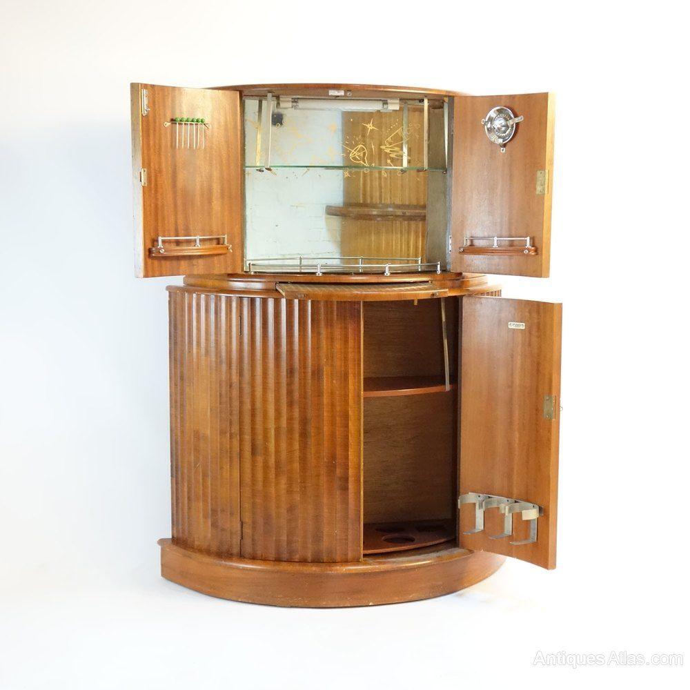 Art Deco Cocktail Bar Drinks Cabinet Antiques Atlas Antique  # Meuble Tv Atlas