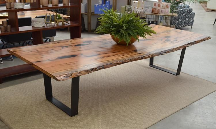 Sandfire Table Natural Edge Dining Table Slab Dining Tables