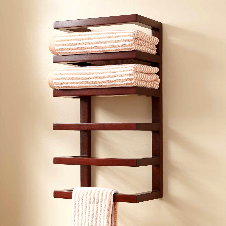 Bathroom towel racks wooden | Baños | Pinterest | Bathroom towels ...