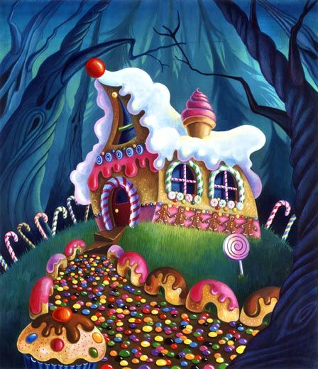 The Witch S Cottage Is One Of The More Popular Elements In Illustrations Of The Tale Description From Brigittere Hansel And Gretel House Candy House Candy Art