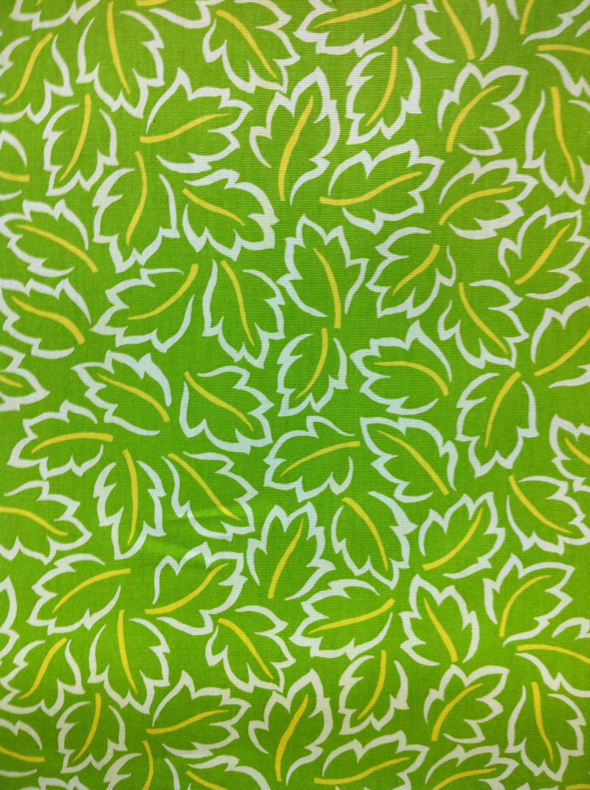 Baja Lime Leaves 7.99/yard Fabric Solutions of Wilmington