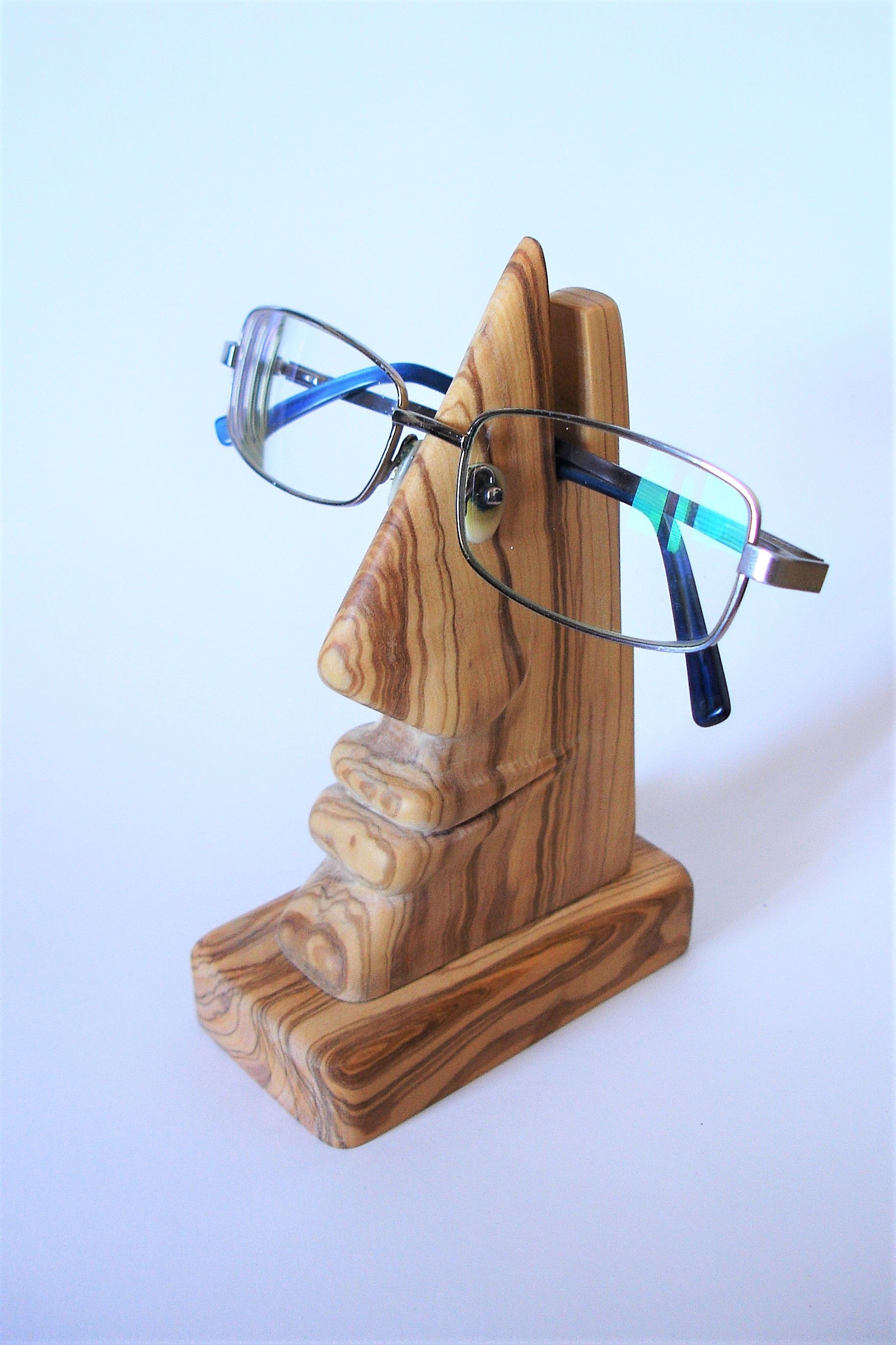 009ab2e15f4 Wooden sculpture made by S-Carving (head eyeglasses holder)