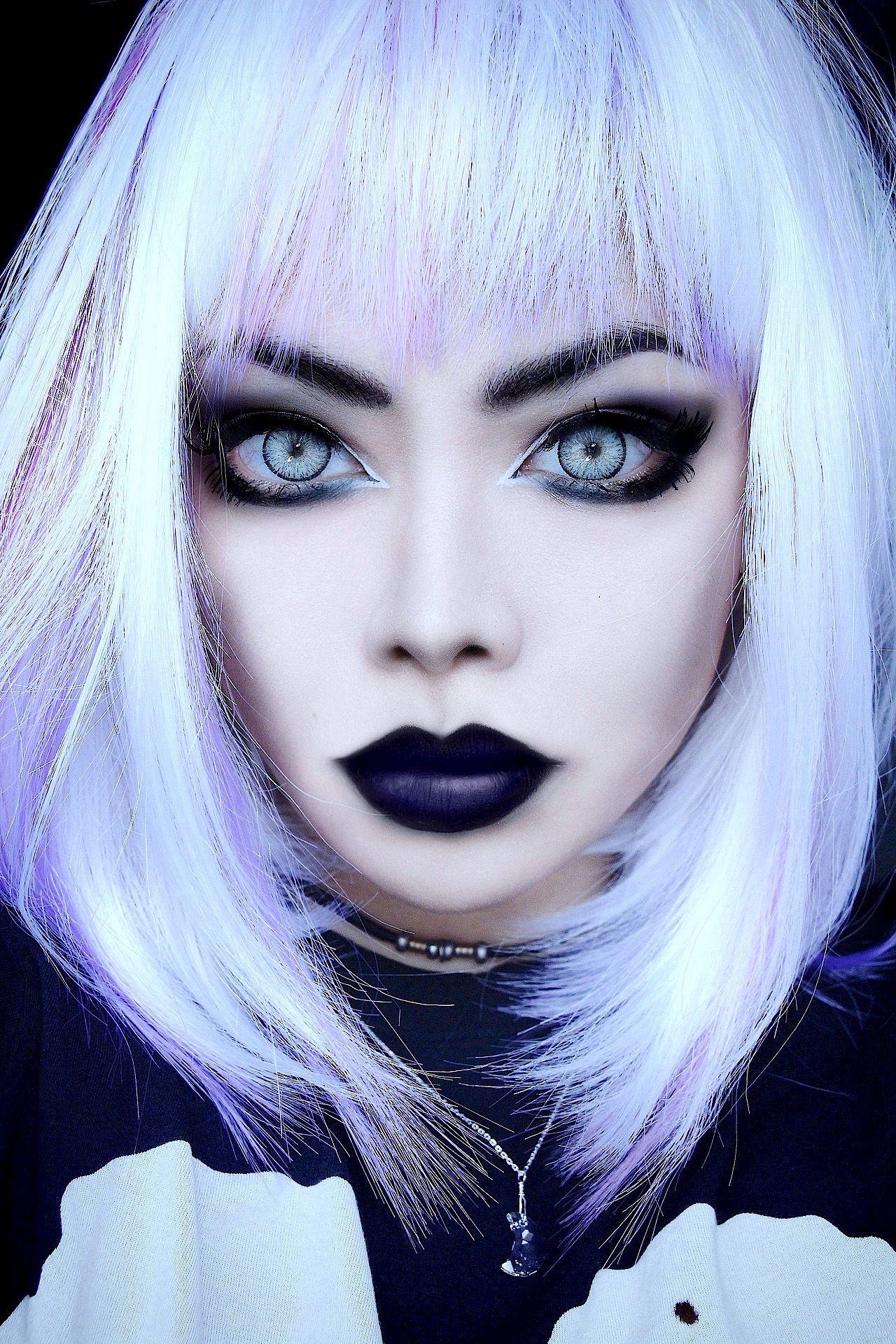 Wylona Hayashi Pastel goth makeup, Goth makeup, Gothic
