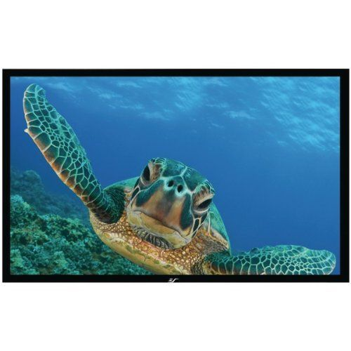 Elite Screens Er110wh1 Sable Frame Series Fixed Frame Screen 110 54 X 96 Er110wh1 Projection Screen Projector Screen Outdoor Projection Screen