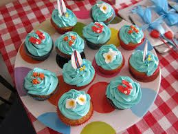 surfing cupcakes - Google Search