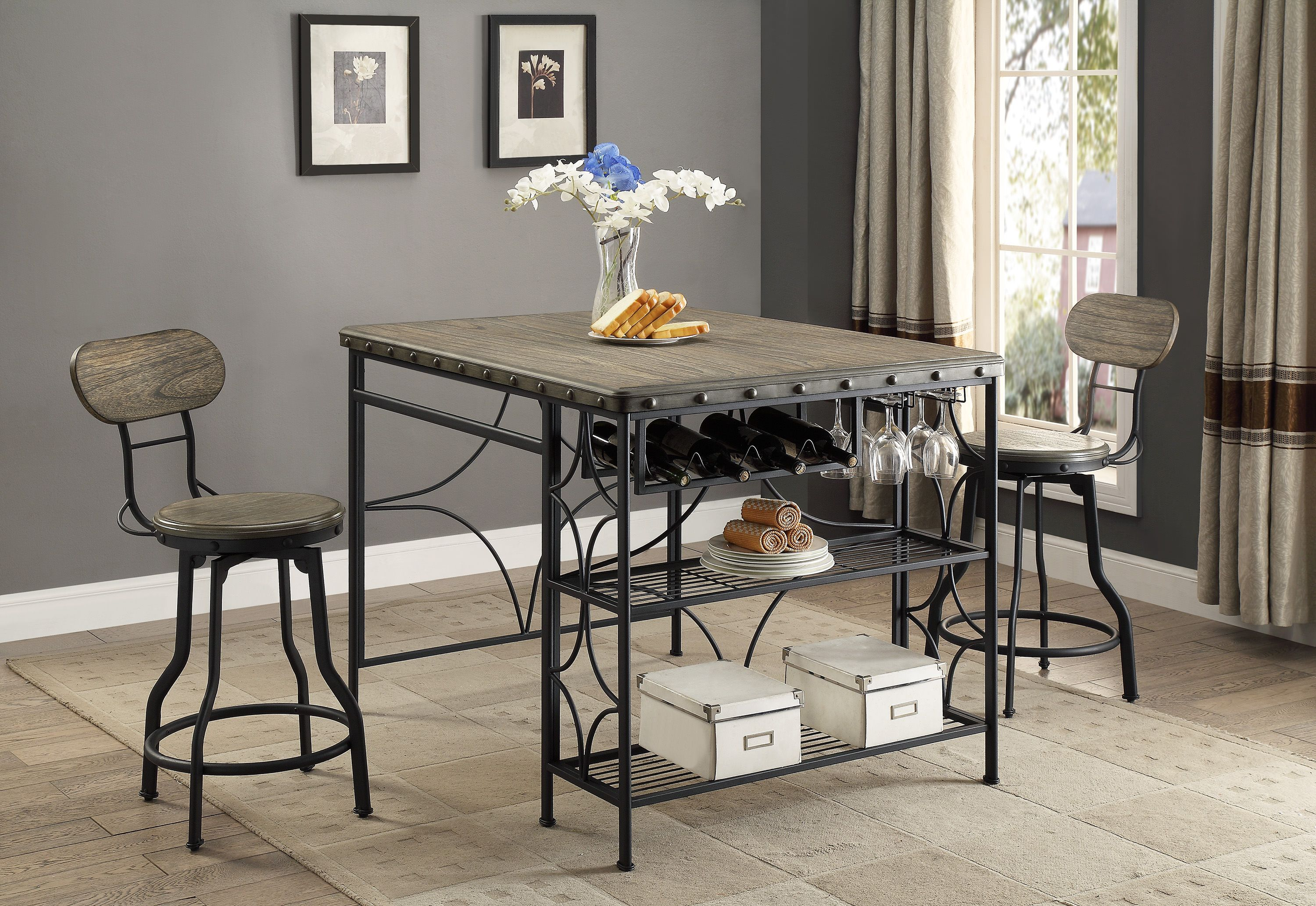 Home Counter Height Dining Sets Black Dining Room Furniture