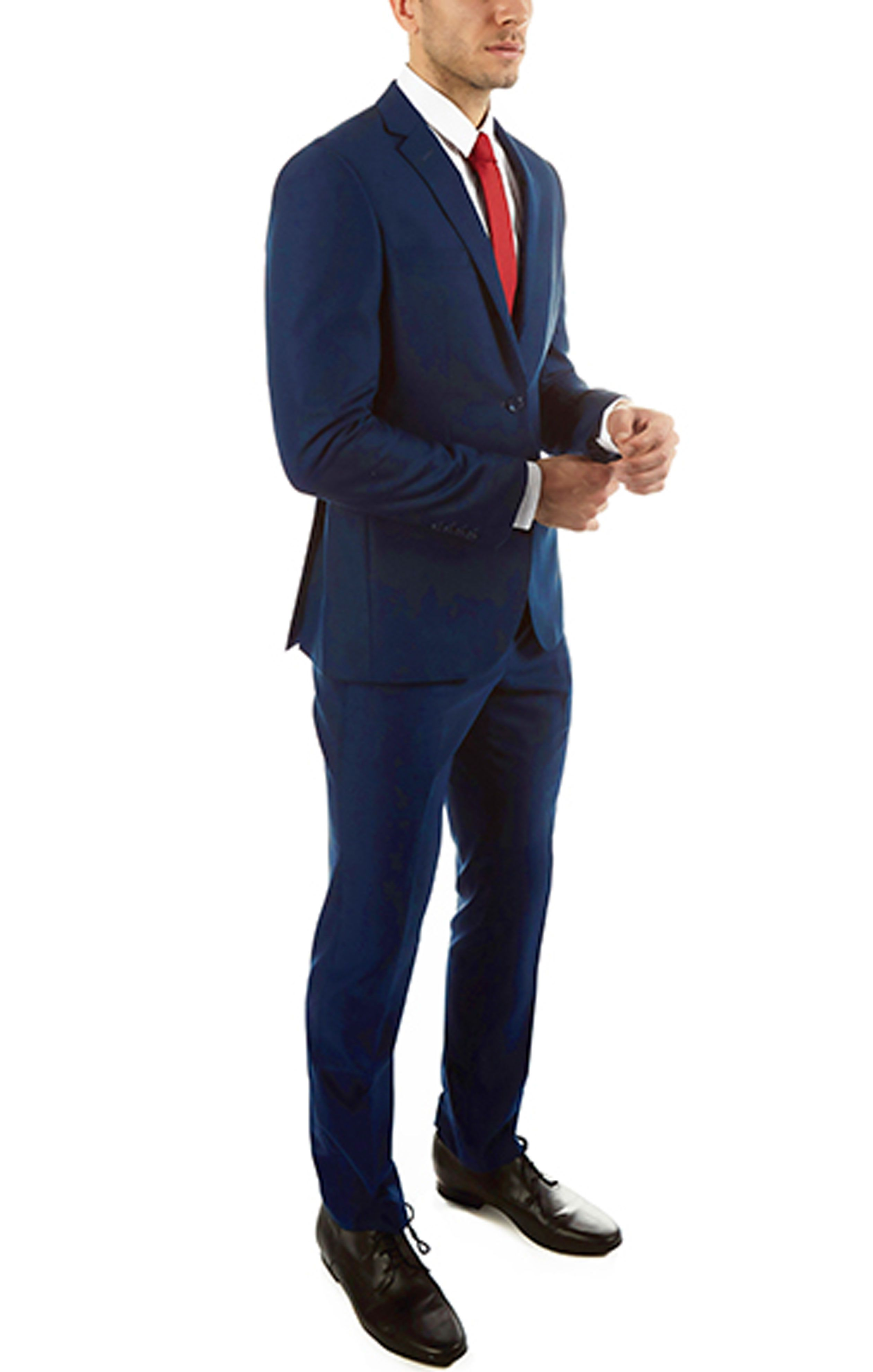 Try Pairing This Alberto Cardinali Slim Fit Navy Blue Suit With A