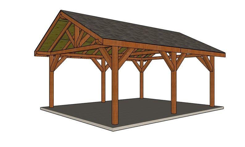 16x20 Backyard Pavilion Plans Etsy In 2021 Backyard Pavilion Pavilion Plans Diy Plans