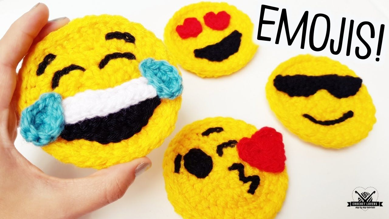 How To Crochet Emoji Faces Crochet Lovers Youtube Krose