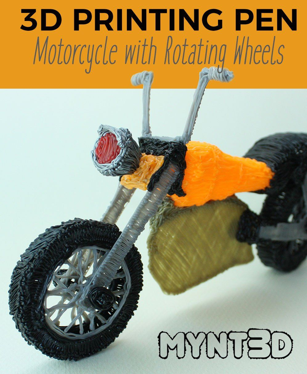 How to Make a Motorcycle with a 3D Printing Pen 3d