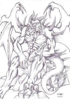 demon coloring pages demon coloring pages   Google Search | Angel/Demon cp demon coloring pages