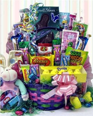 Easter basket filled with goodies candyblast random easter basket filled with goodies candyblast negle Choice Image