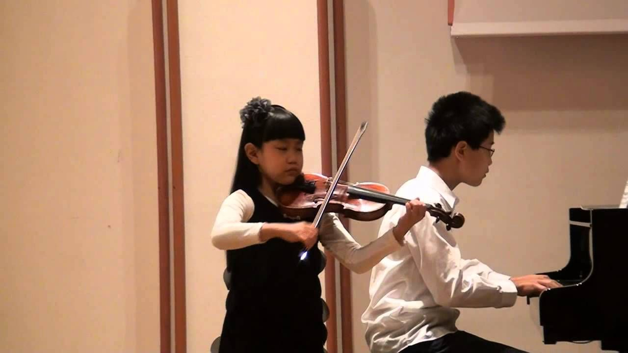 J S Bach Violin Sonate In G Major Bwv 1021 Clara 7 Years Old Violin Violinists G Major