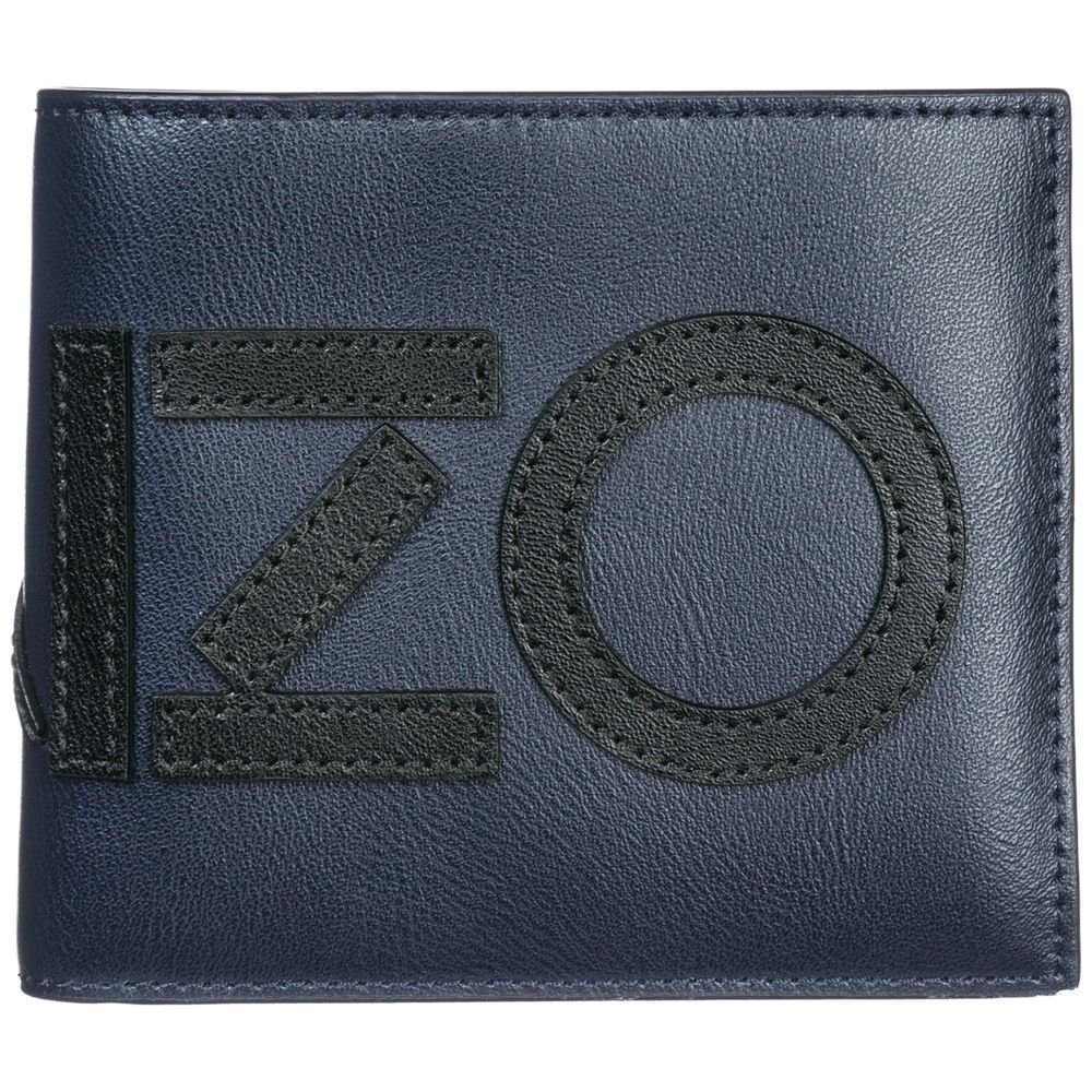 bfe9b9a785ee eBay #Sponsored KENZO MEN'S GENUINE LEATHER WALLET CREDIT CARD BIFOLD NEW  BLUE 177