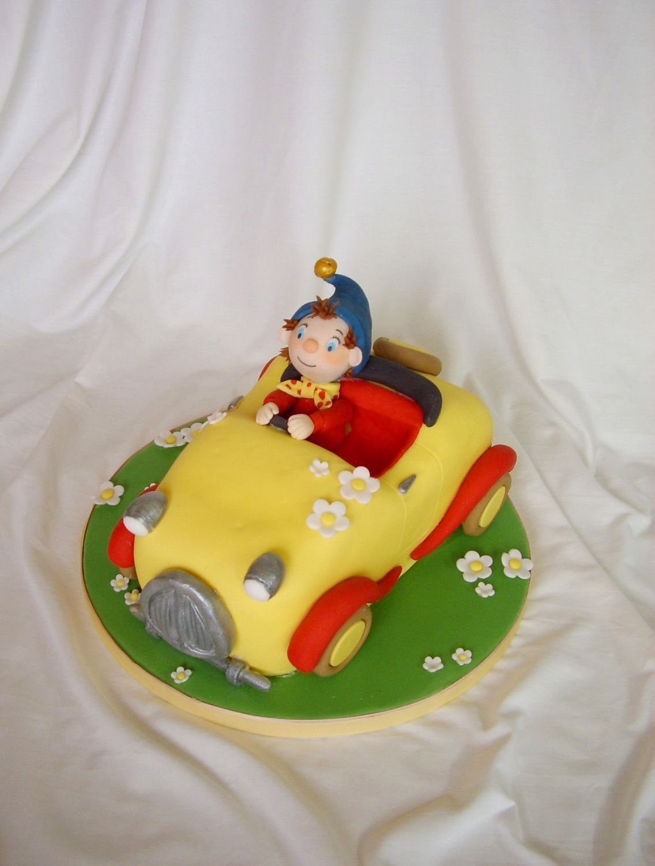 first birthday cakes boy with cars noddy car — Children