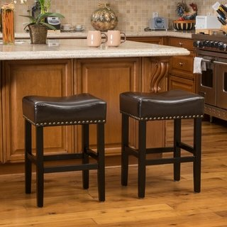 Lisette 26 Inch Brown Backless Counter Stool Set Of 2 By