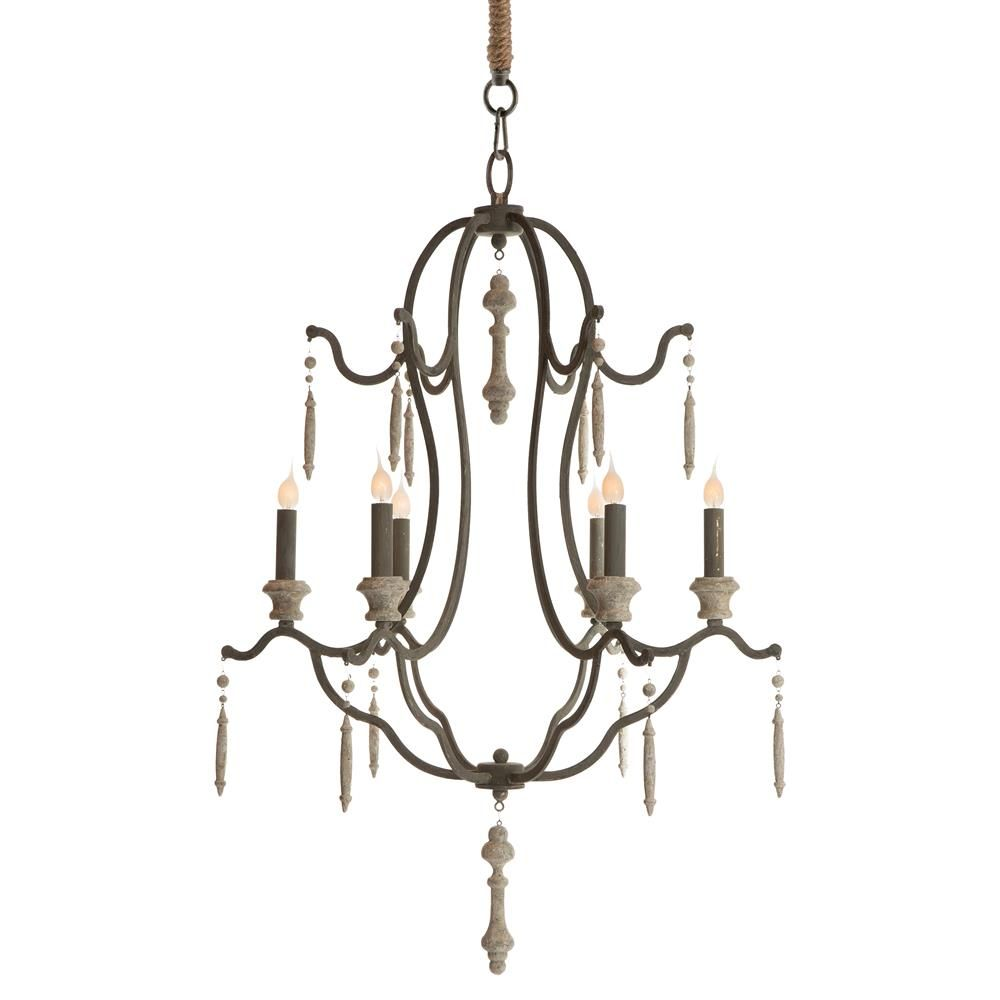 Marisol french country simple dark grey iron 6 light chandelier marisol french country simple dark grey iron 6 light chandelier kathy kuo home arubaitofo Choice Image